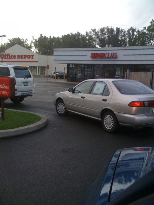 The drive-through: conveniently open day. . .