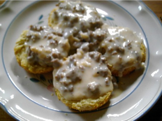 Biscuits and gravy from chicagoist.com