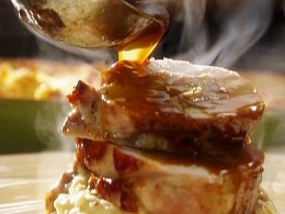 Roasted turkey with gravy from foodnetwork.co.uk