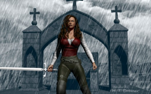 A rendering of the main character from my 'for me' story.