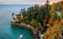 Miner Castle Lake Superior