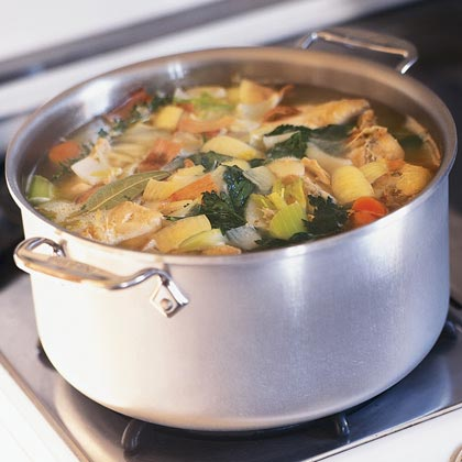 Chicken stock is the foundation of chicken soup