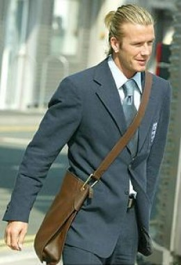 David Beckham in his Messenger Bag