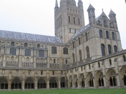 View of the cathedral from inside the cloisters