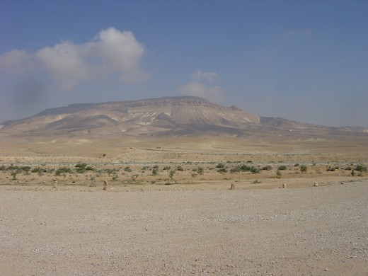 A mountain in The Syrian Desert
