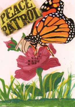 Peace Patrol - Original Collage by L. Thykeson