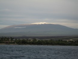 Mauna kea in Hawaii, is an example of shield volcano. It is the tallest mountain in the world, when measured from sea level.