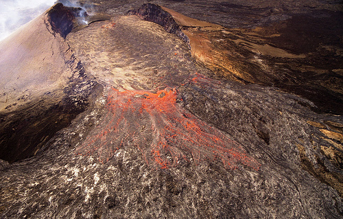 Puu Oo Crater, Hawaii, example of a spatter cone.