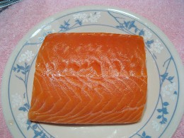 Salmon ready for grilling