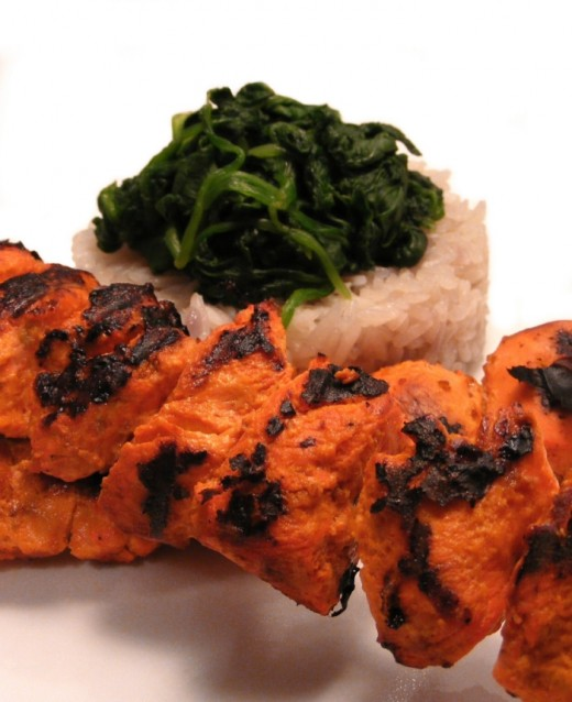 Tandoori Chicken Tikka hot and spicy straight out of the Tandoor