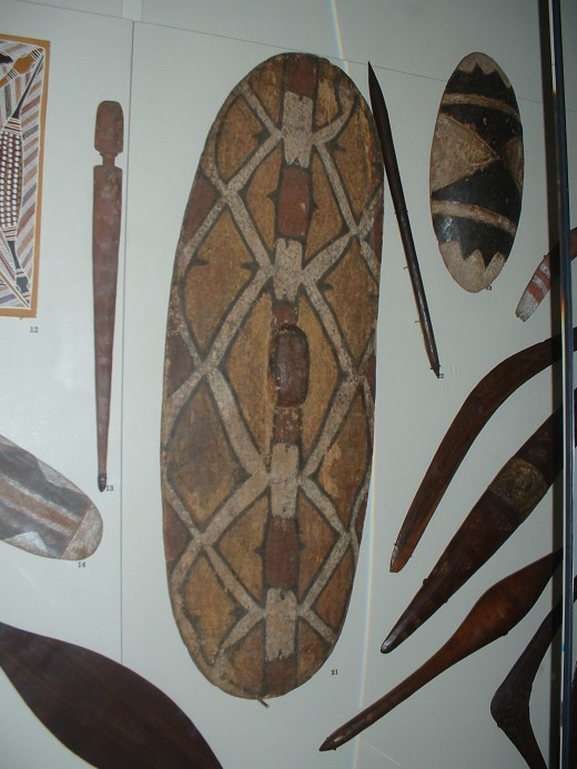 The Australian Aborigine has developed a unique set of tools to help them survive and some of these like the boomerang, are not seen anywhere else as part of culture. They also had enough spare time to develop their own brand of art and music.
