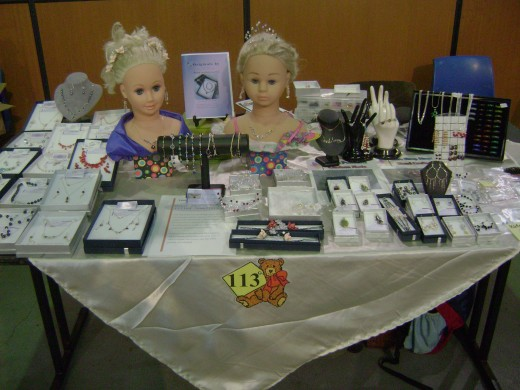 Jewellery Exhibition at the Doll Bear and Craft Show Penrith NSW Australia in 2009