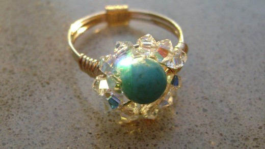 Hand made turquoise ring