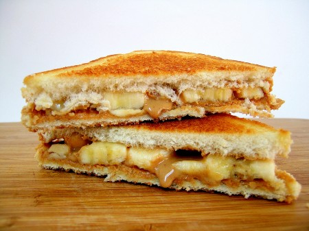 Fried Peanut Butter , Banana , and Bacon Sandwiches was the favorite food of Elvis Presley.