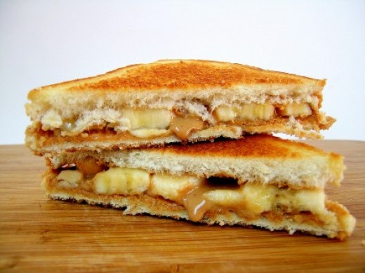 Fried Peanut Butter , Banana , and Bacon Sandwiches was the favorite ...