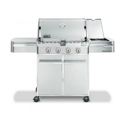 Weber Summit has knobs in the front so burners run front to back for better control over grill area.