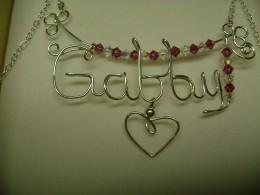 Gabby name pendant