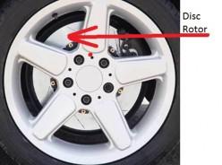 Worn Auto disc brake repairs.