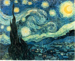 Van Gogh painted Starry Night during a stay at Saint Remys du Provence mental asylum in 1889