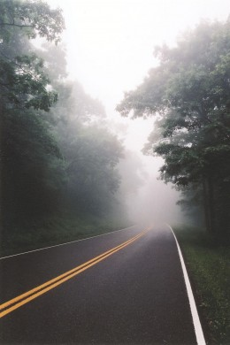 Early morning drives are often foggy! The air feels fresh