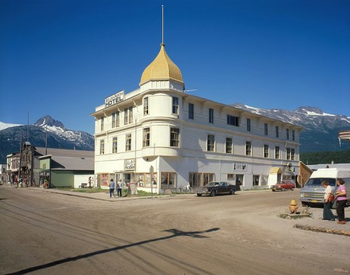 The Golden North Hotel in  Skagway, Alaska; a Historic American Building (public domain). The Historical Register status can boost business.