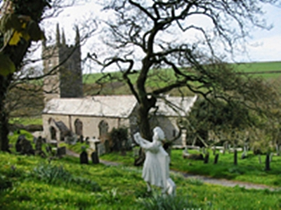Library picture showing the figurehead which is not currently on display in the Churchyard