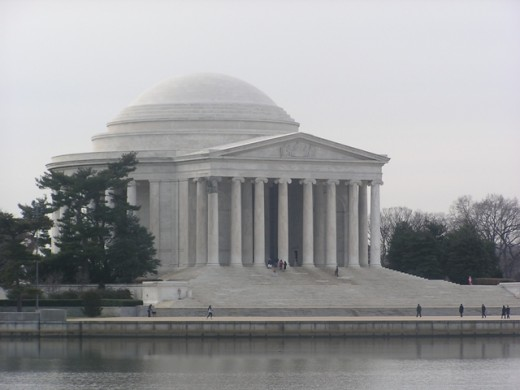My favorite shot of the Jefferson Memorial. Copyright Tia D. Peterson. All rights reserved.
