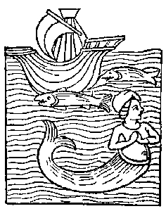 I can find no image of the Bude Mermaid but I am sure your imagination can do the rest!