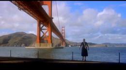 Beneath the Golden Gate Bridge.