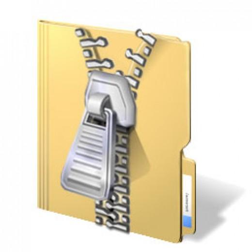 Create a zip file in vista.    Image source - www.neowin.net