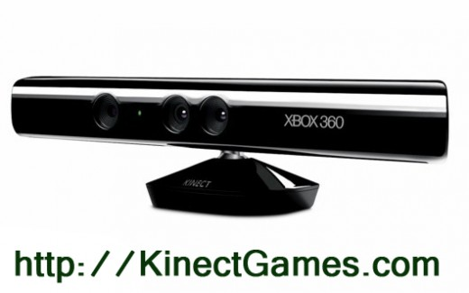 The new Xbox 360 Kinect camera to allow you to play games using only body motions.