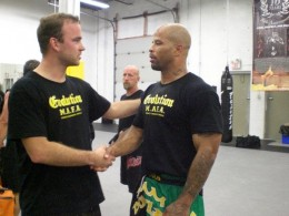 Myself and Alexander After a light sparring session