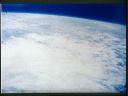 Photo of earth taken from orbit by Scott Carpenter. Photo courtesy of NASA.