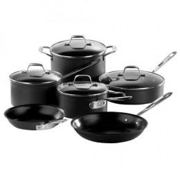 Hard anodised aluminum cookware