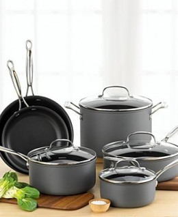 Hard anodized aluminum cookware: Distinguishing charcoal coloured finish