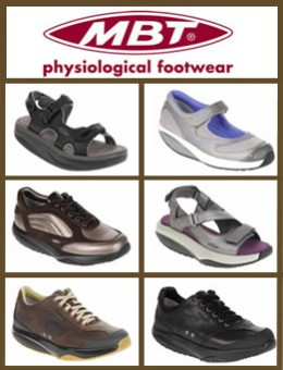 Some of the Extensive MBT Anti Shoe footwear range