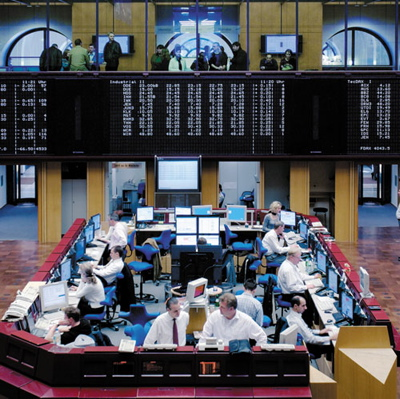 The trading floor at Frankfurt Stock Exchange