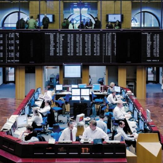 The trading floor at Frankfurt Stock Exchange