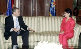 OUTGOING S.A. AMBASSADOR TO THE PHILIPPINES PIETER VERMEULEN WITH OUTGOING PRESIDENT GLORIA ARROYO
