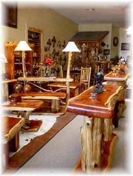 Inside of Big Cedar Furniture