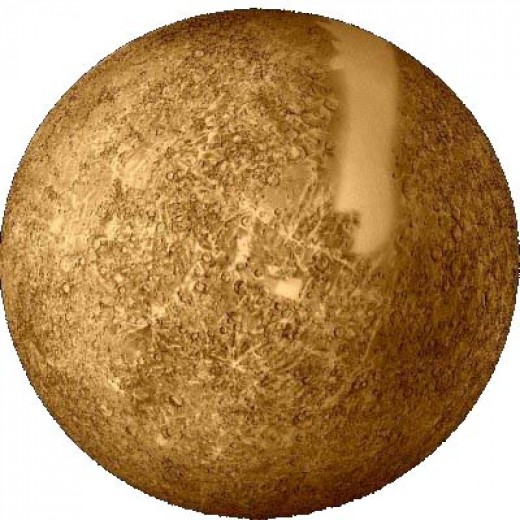 Due to Mercury being deeper in the sun's gravity well, aging of its rocks should be slower than on earth.