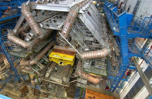 This is part of the Large Hadron Collider, which is allowing physicists to peer into the realm of the subatomic at high energies associated with the conditions near the beginning of the cosmos ans thus its ultimate fate.