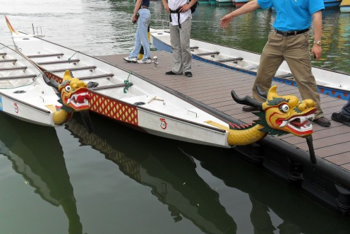 Two of the Dragon Boats