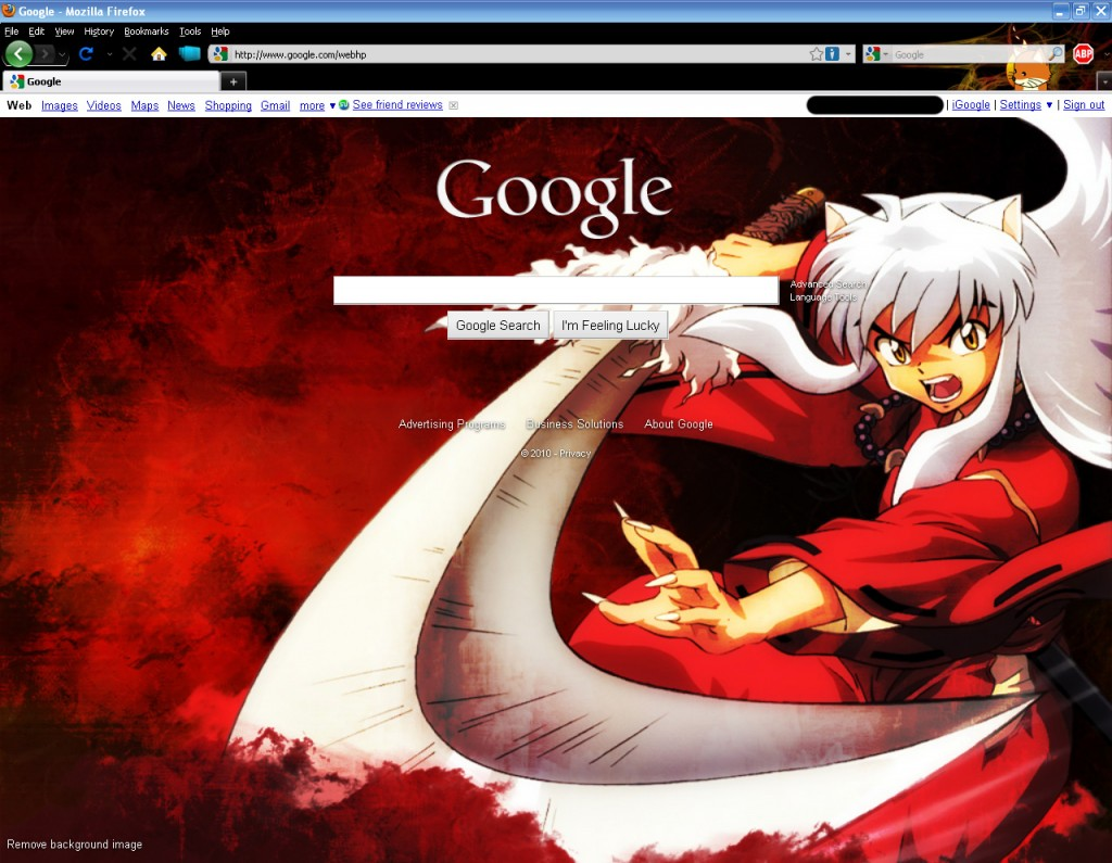google homepage images user defined new backgrounds