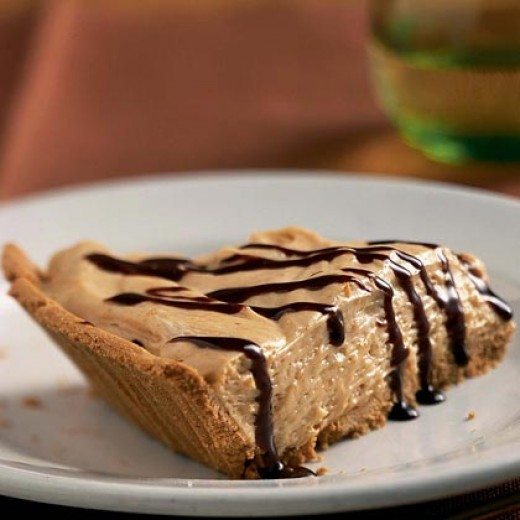 Drizzle Chocolate Syrup over your peanut butter pie for the worlds best peanut butter pie.