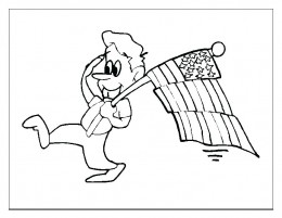 USA-Flags Kids Coloring Pages Free Colouring Pictures to Print