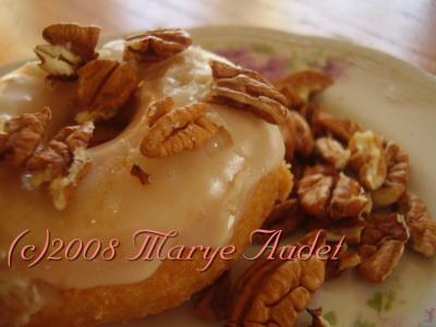 maple pecan donuts (c) marye audet