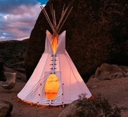 The original American camping tent