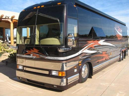 Class A bus conversion motorhome