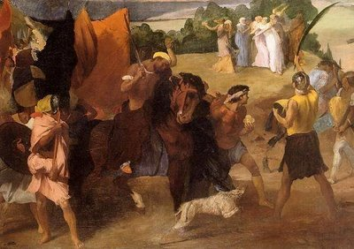 Daughter of Jephtha was painted in 1860, at a time when Degas was very interested in Biblical depictions.